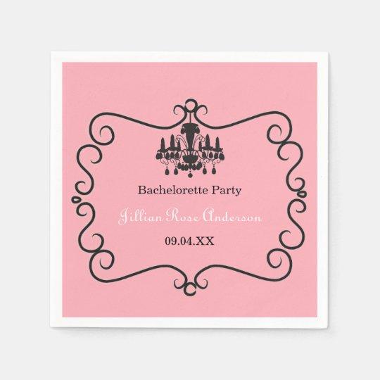 Parisian Themed Bachelorette Party - Napkin Disposable Serviette