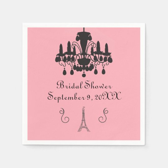 Parisian Themed Bridal Shower - Napkin Disposable Napkin