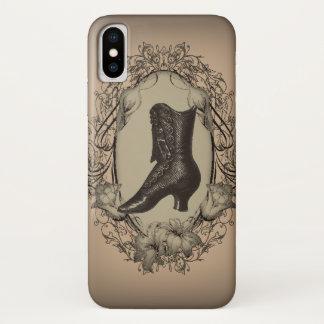 Parisian Vintage Victorian shoe steampunk iPhone X Case