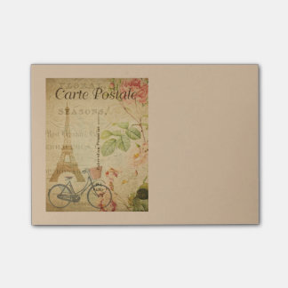 Parisian Vintage With Eiffel Tower Post-it Notes