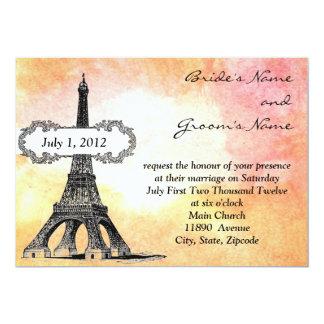 Parisian Watercolor Wedding Invitation
