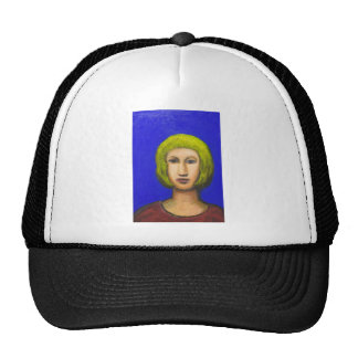 Parisienne with a bob haircut(naive expressionism) cap