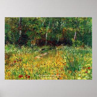 Park at Asnieres in Spring Vincent van Gogh 1887 Poster