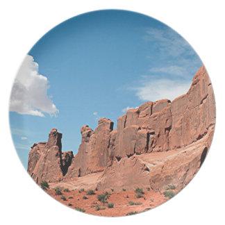 Park Avenue, Arches National Park, Utah Plate
