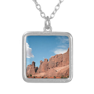 Park Avenue, Arches National Park, Utah Silver Plated Necklace