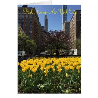 Park Avenue, New York City tulips Easter card
