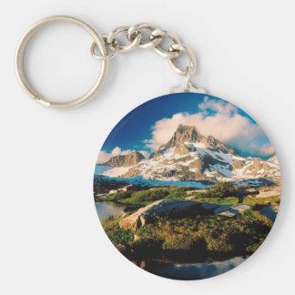 Park Banner Peak Lake California Keychains