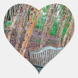 Park Bench 1 Heart Sticker
