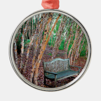 Park Bench 1 Metal Ornament