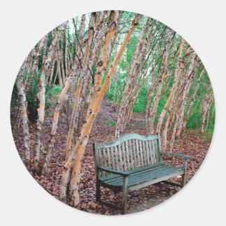 Park Bench 1 Round Sticker
