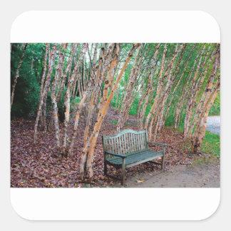 Park Bench 1 Square Sticker