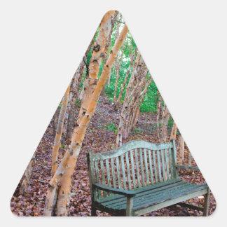 Park Bench 1 Triangle Sticker
