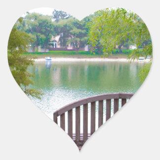 Park Bench 2 Heart Sticker