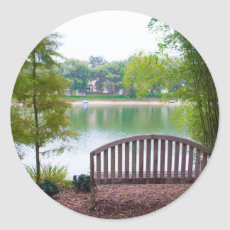 Park Bench 2 Round Sticker