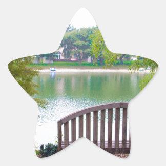 Park Bench 2 Star Sticker