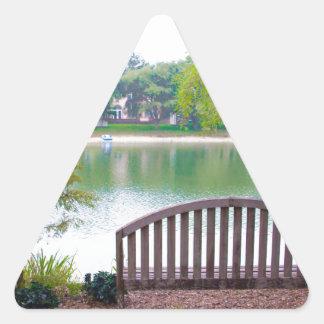 Park Bench 2 Triangle Sticker