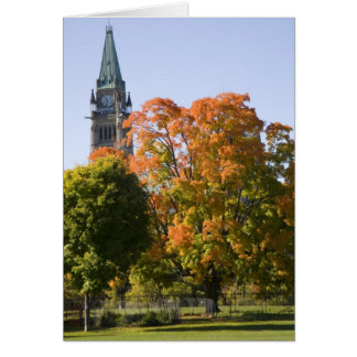 Park beside the Parliment Building in Ottawa, Greeting Card