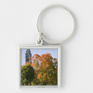 Park beside the Parliment Building in Ottawa, Silver-Colored Square Key Ring