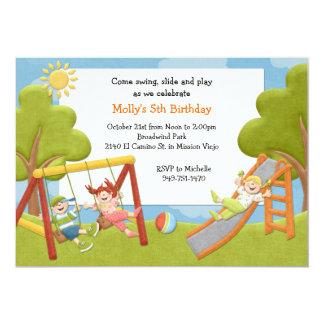 Park Birthday Party Invitation