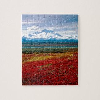Park Brilliant Colors Of Denali Alaska Jigsaw Puzzle