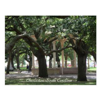 Park, Charleston South Carolina, Gazebo, Post card