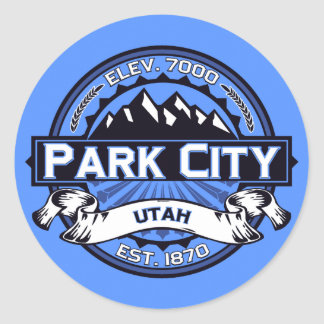 Park City Color Logo Sky Blue Stickers