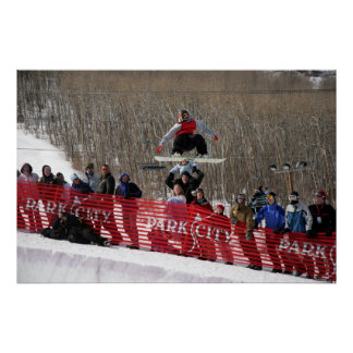 Park City Half Pipe Snowboarding Poster