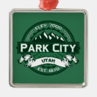Park City Logo Forest Metal Ornament