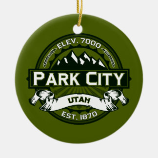 Park City Logo Olive Ceramic Ornament