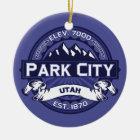 Park City Midnight Ceramic Ornament