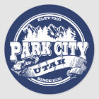 Park City Old Circle Blue Classic Round Sticker