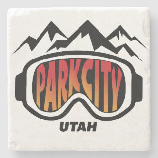 Park City Utah Collectible Marble Coaster