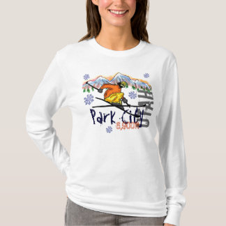 Park City Utah ladies ski elevation hoodie