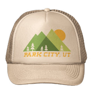 park city utah modern mountains cap