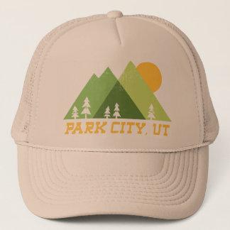 park city utah modern mountains trucker hat