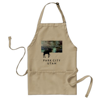 Park City, Utah, Moose Design Apron