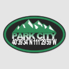 Park City Utah Oval Sticker