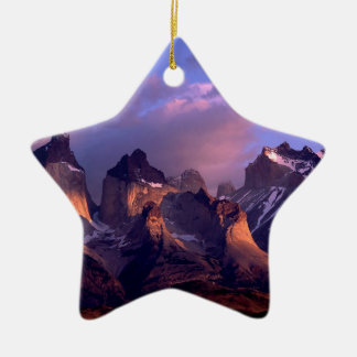 Park Cuernos Del Paine Andes Ains Chile Christmas Tree Ornament