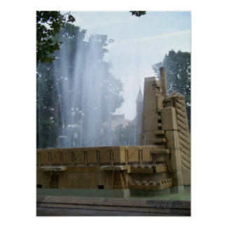 Park Fountain Poster