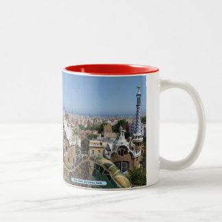 Park Güell, Barcelona, Spain Two-Tone Coffee Mug