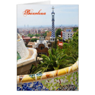 Park Guell in Barcelona, Spain Card