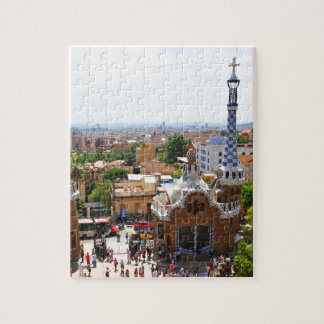 Park Guell in Barcelona, Spain Jigsaw Puzzle