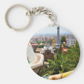 Park Guell in Barcelona, Spain Key Ring