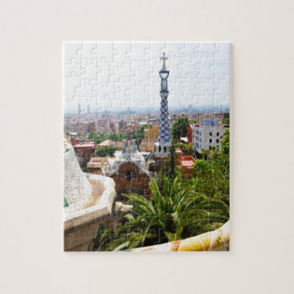 Park Guell in Barcelona, Spain Puzzle