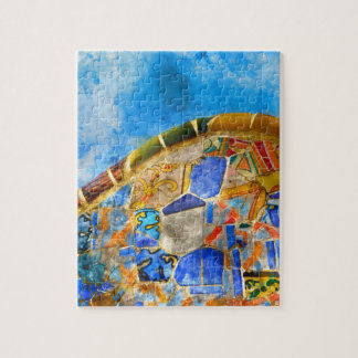 Park Guell in Barcelona Spain Puzzle