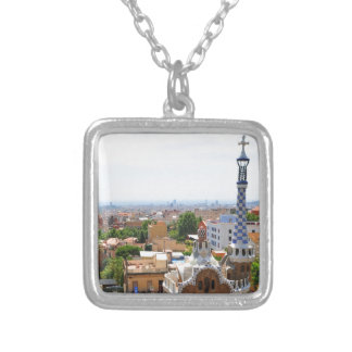Park Guell in Barcelona, Spain Silver Plated Necklace