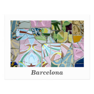 Park Guell mosaics Postcard