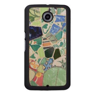 Park Guell mosaics Wood Phone Case