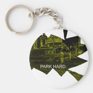 Park Hard Basic Round Button Key Ring