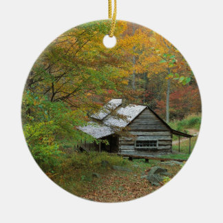 Park Homestead Cabin Ains Tennessee Ceramic Ornament